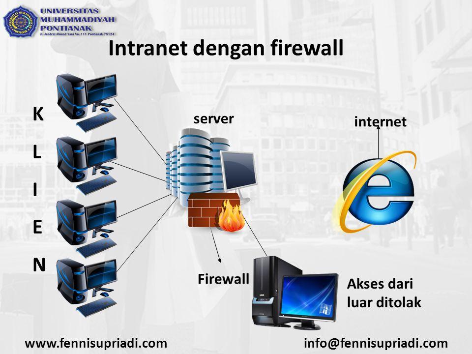 Intranet dengan firewall