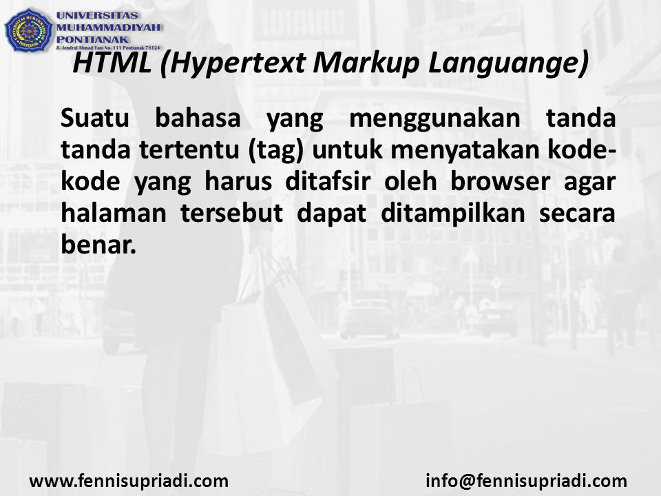 HTML (Hypertext Markup Languange)