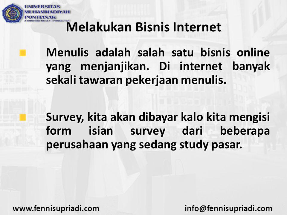 Melakukan Bisnis Internet