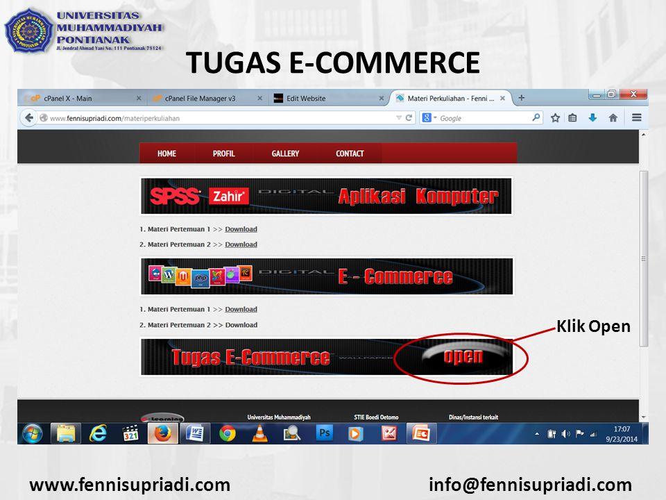 TUGAS E-COMMERCE www.fennisupriadi.com info@fennisupriadi.com