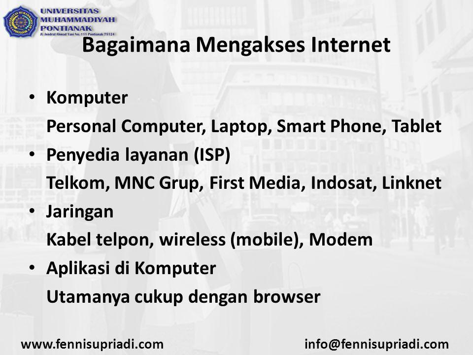 Bagaimana Mengakses Internet
