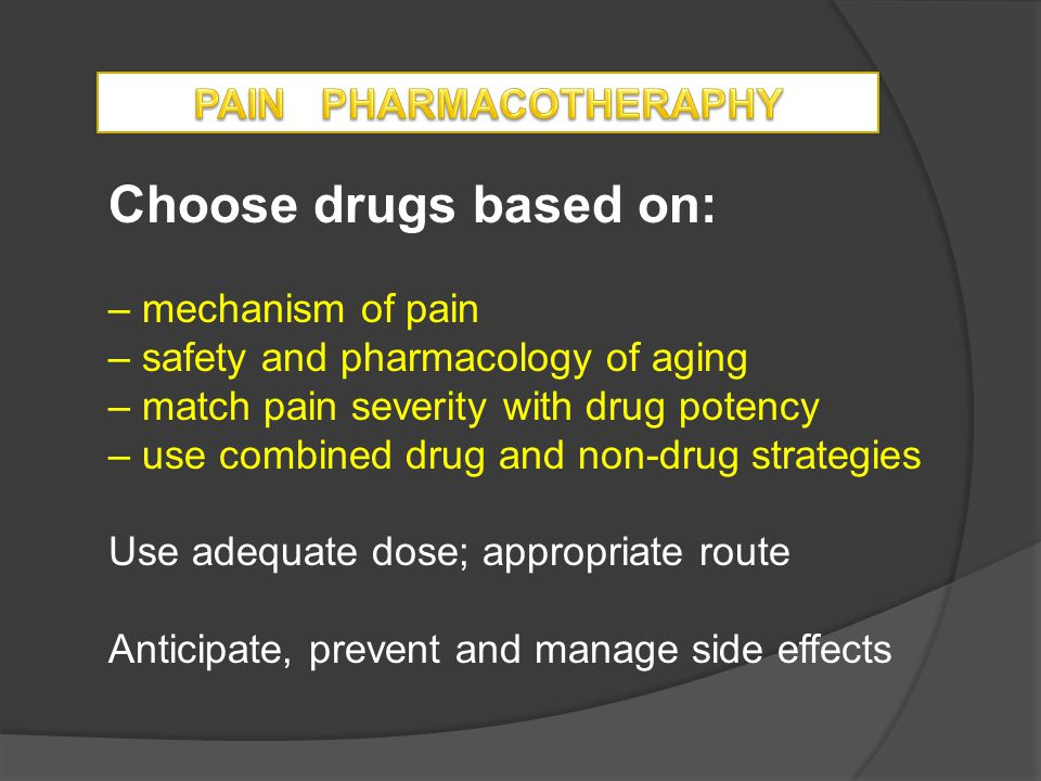 PAIN PHARMACOTHERAPHY