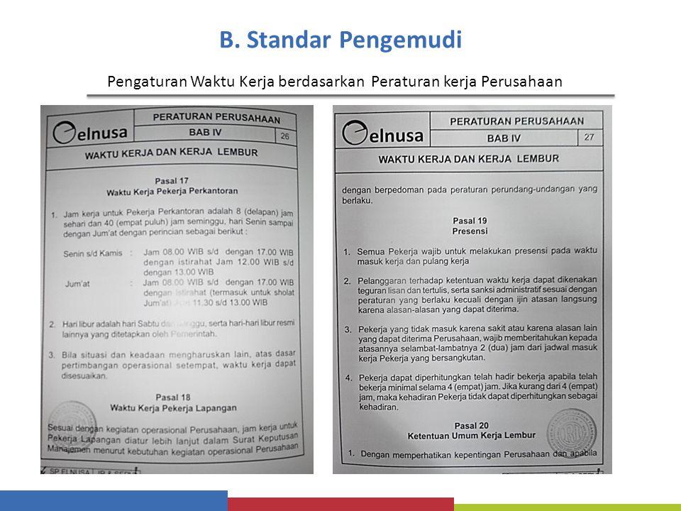 Pengaturan Waktu Kerja berdasarkan Peraturan kerja Perusahaan