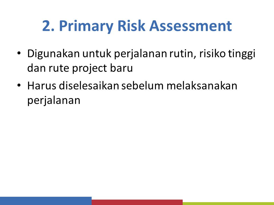 2. Primary Risk Assessment