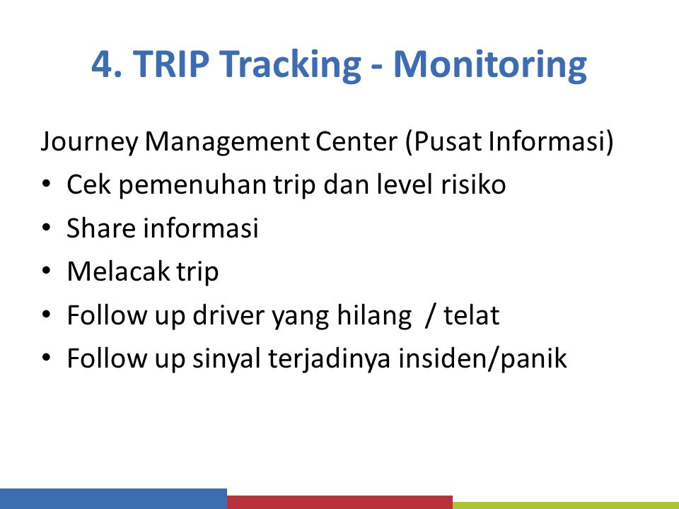 4. TRIP Tracking - Monitoring