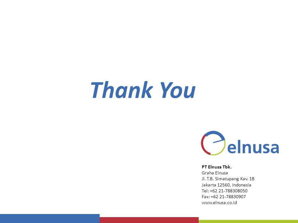 Thank You PT Elnusa Tbk. Graha Elnusa Jl. T.B. Simatupang Kav. 1B