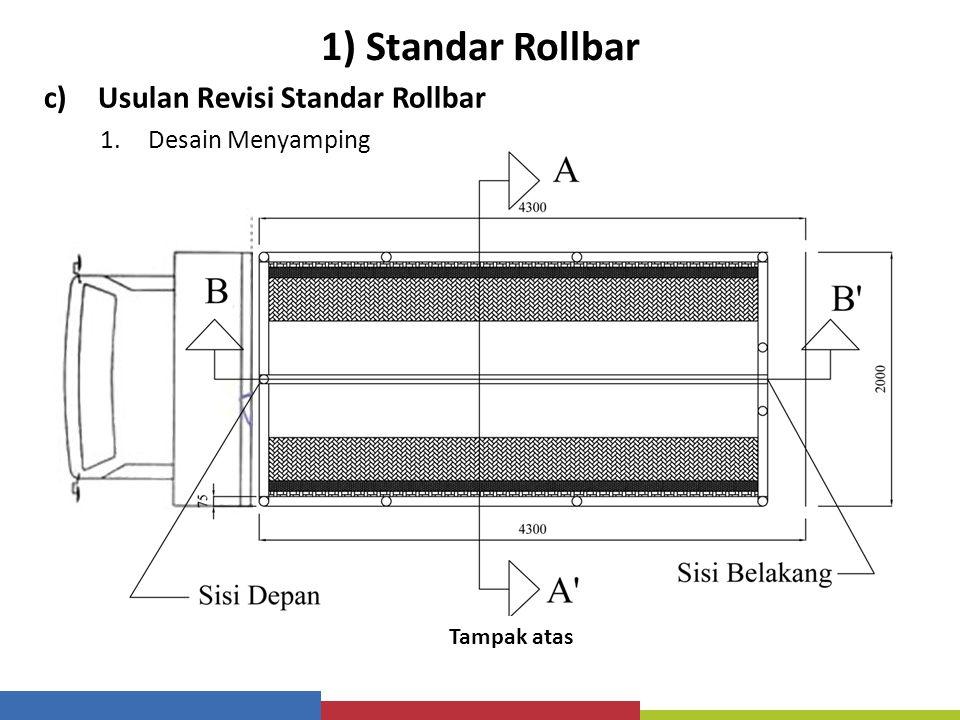 1) Standar Rollbar Usulan Revisi Standar Rollbar Desain Menyamping