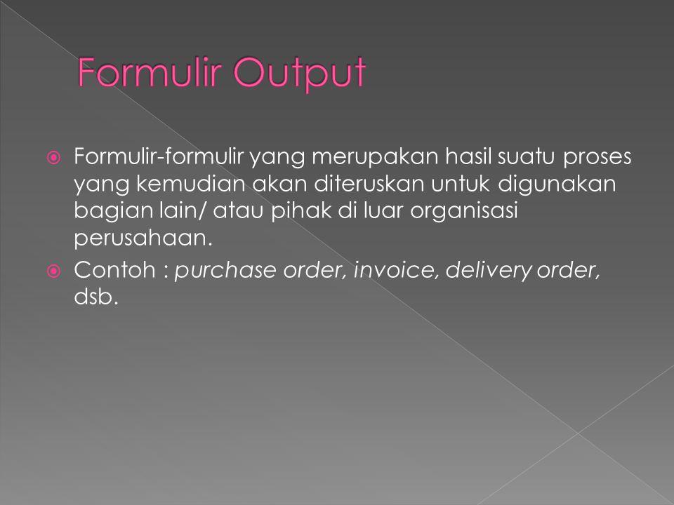 Formulir Output