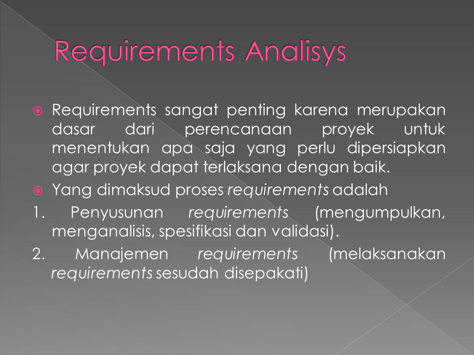 Requirements Analisys