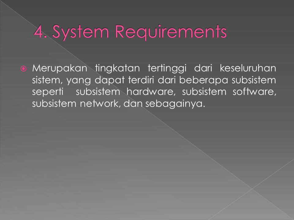 4. System Requirements