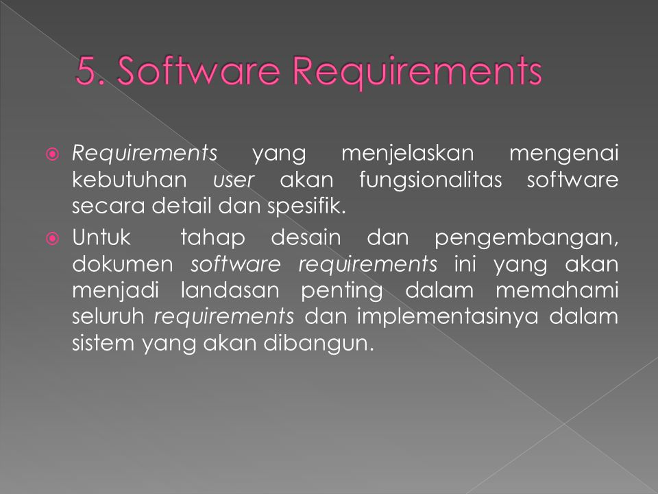 5. Software Requirements