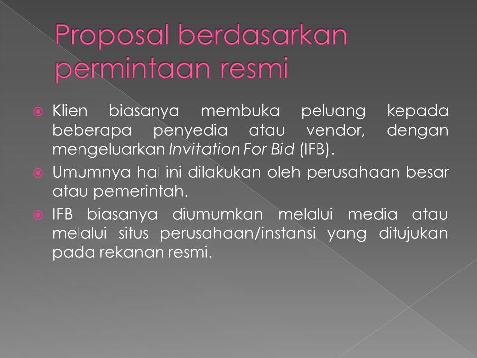 Proposal berdasarkan permintaan resmi