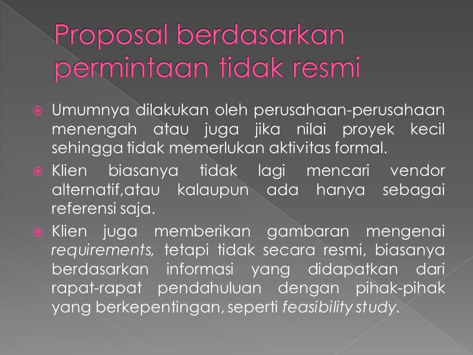 Proposal berdasarkan permintaan tidak resmi
