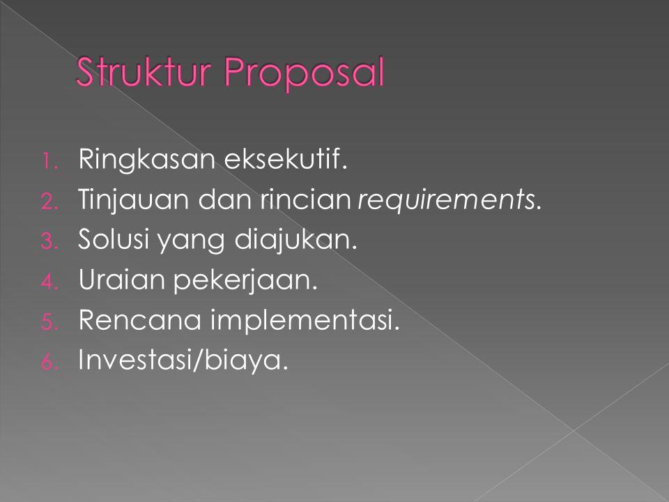 Struktur Proposal Ringkasan eksekutif.