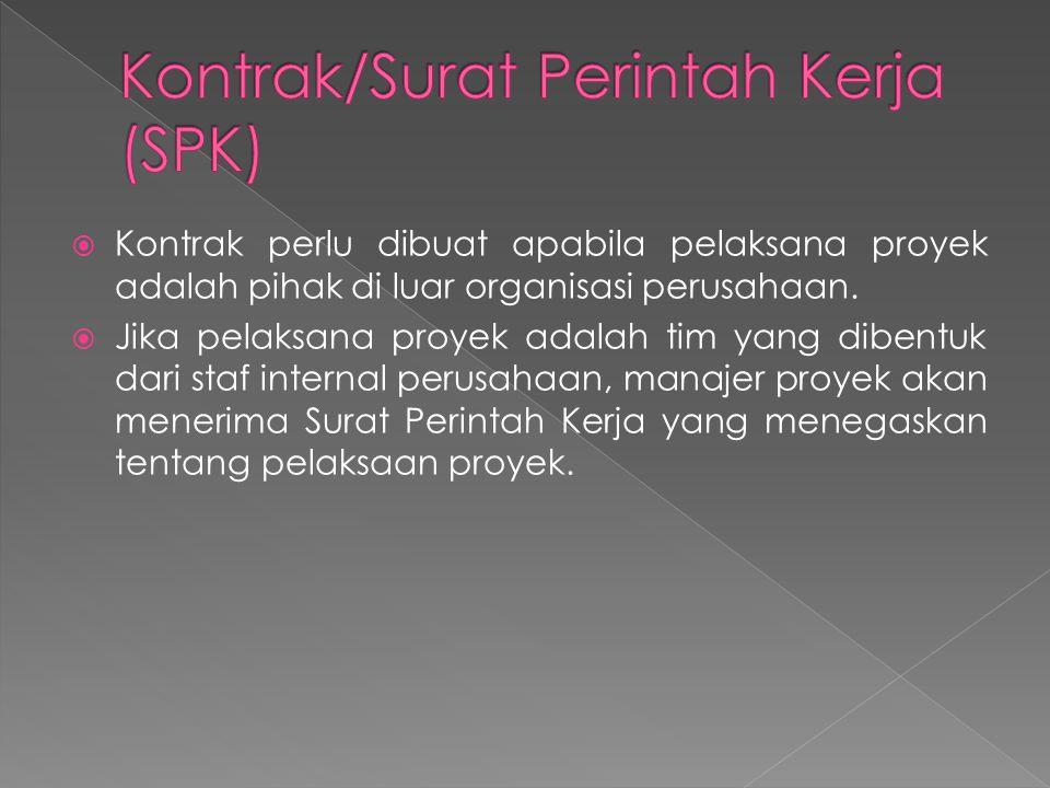 Kontrak/Surat Perintah Kerja (SPK)