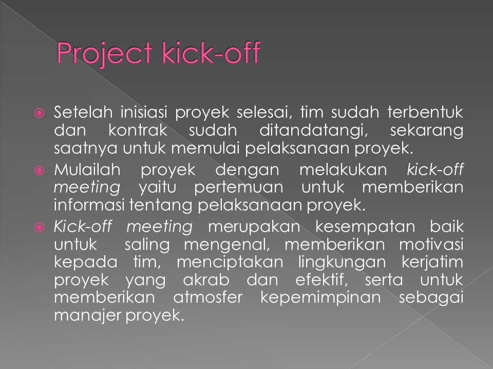 Project kick-off
