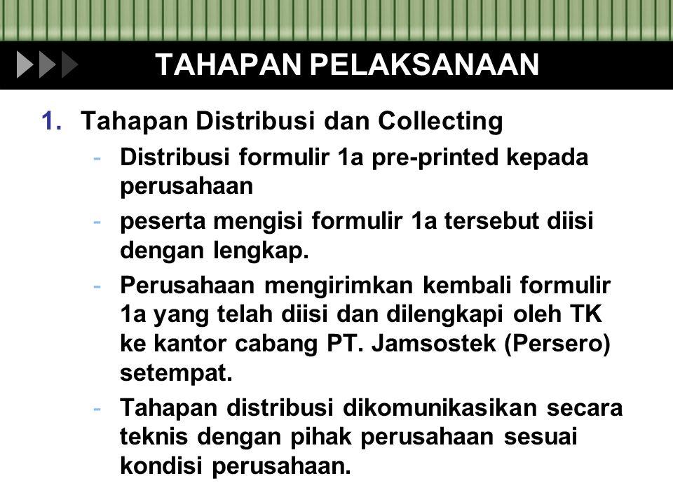 TAHAPAN PELAKSANAAN Tahapan Distribusi dan Collecting