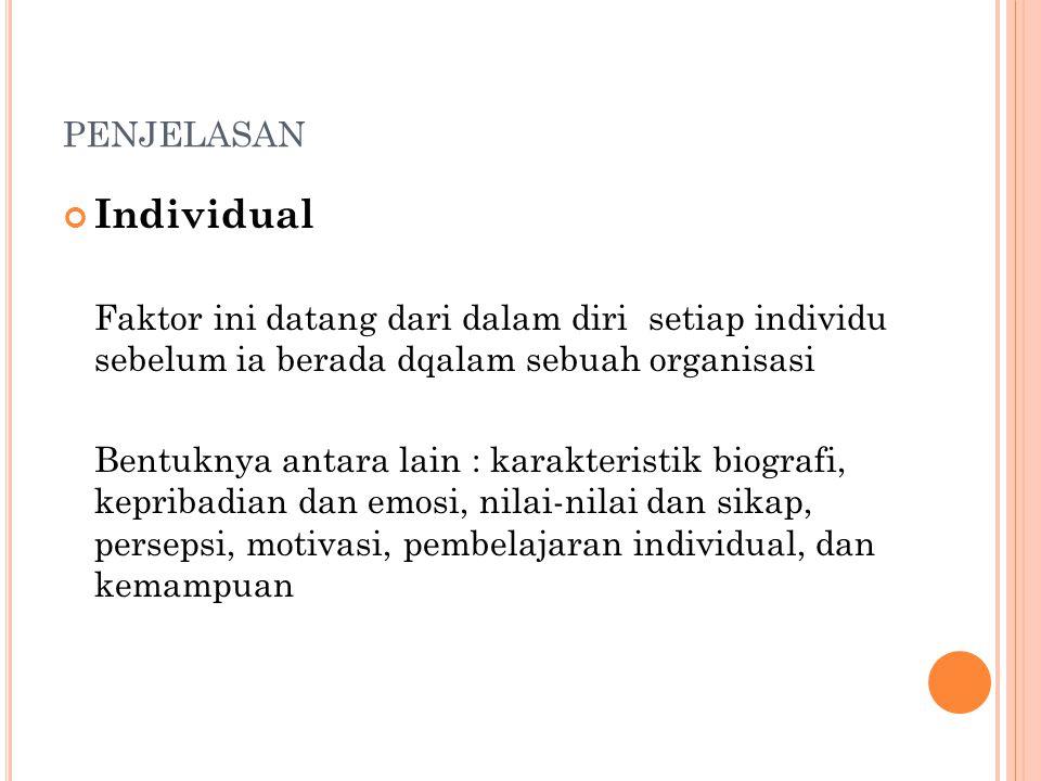penjelasan Individual