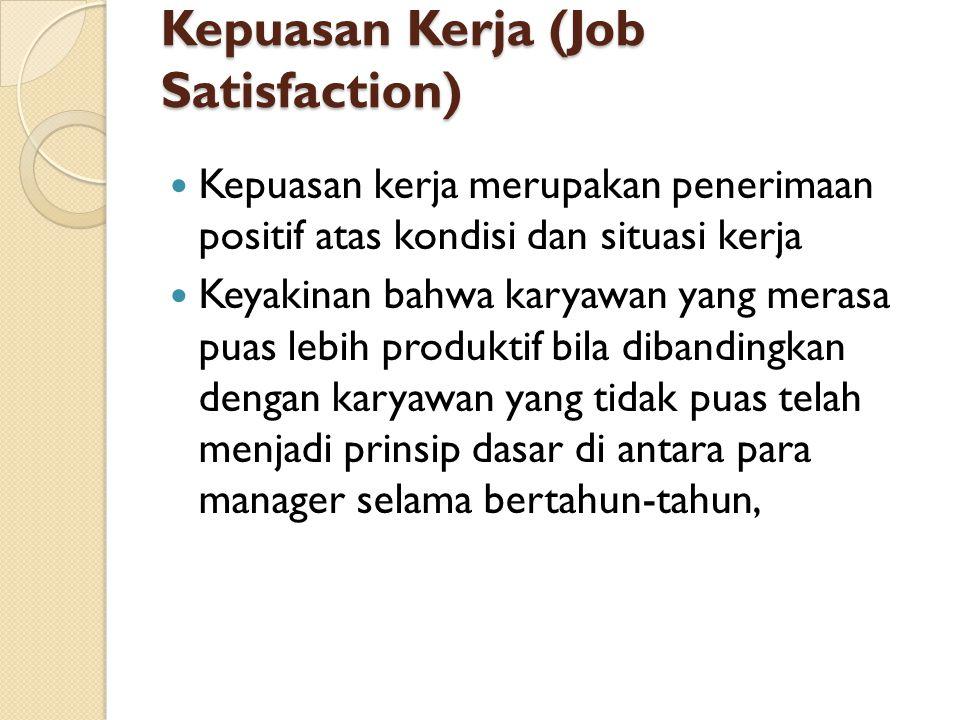 Kepuasan Kerja (Job Satisfaction)