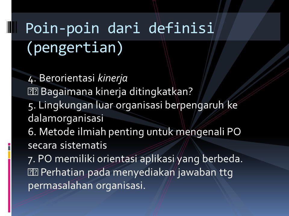Poin-poin dari definisi (pengertian)
