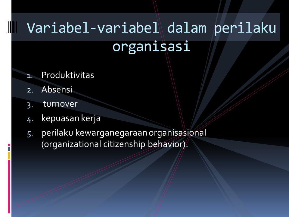 Variabel-variabel dalam perilaku organisasi