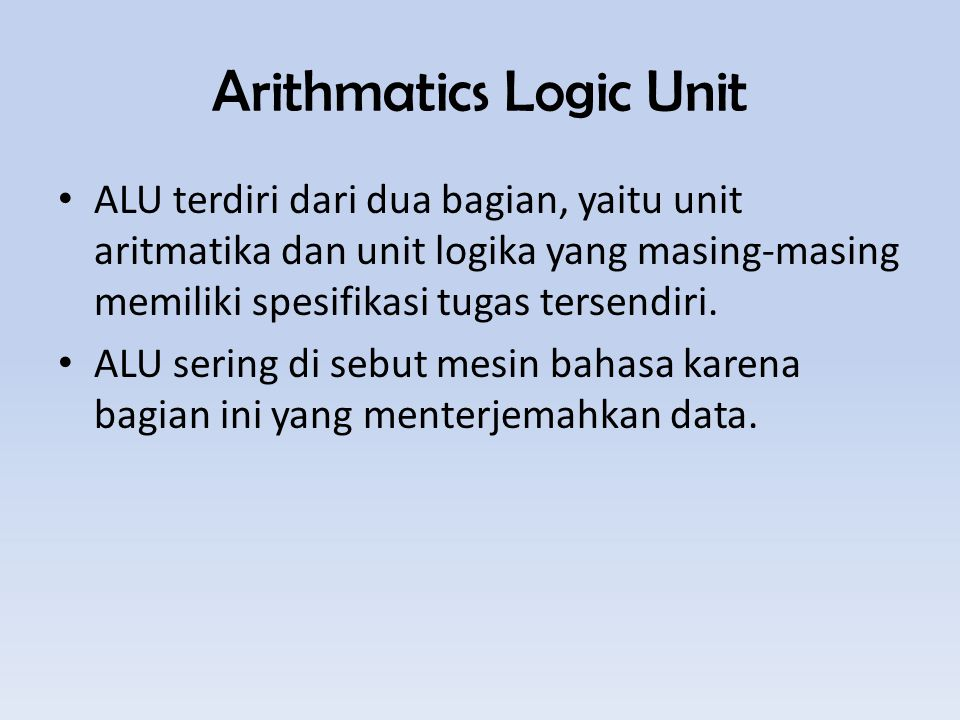Arithmatics Logic Unit