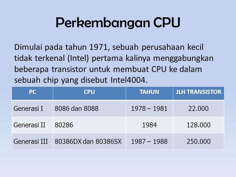 Perkembangan CPU
