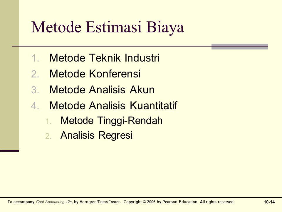 Metode Estimasi Biaya Metode Teknik Industri Metode Konferensi