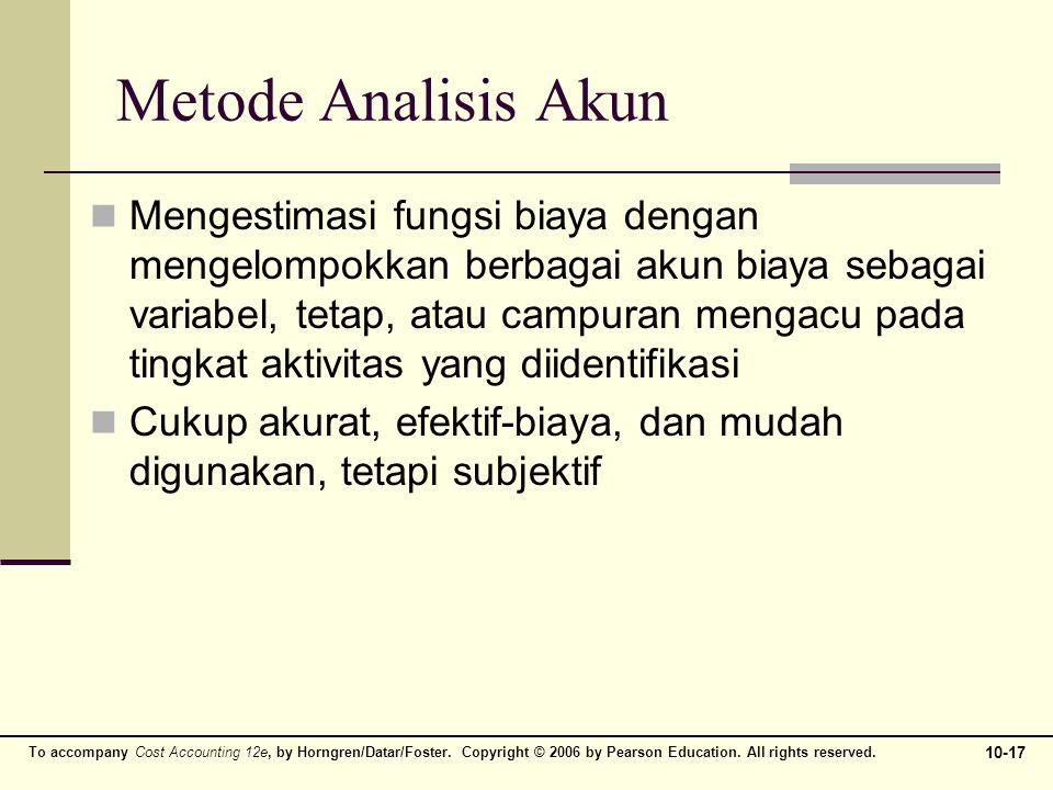Metode Analisis Akun