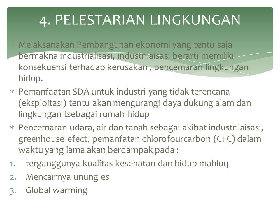4. PELESTARIAN LINGKUNGAN
