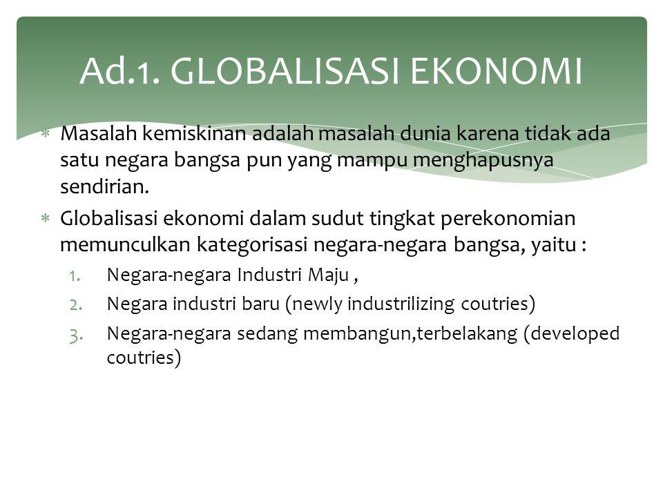 Ad.1. GLOBALISASI EKONOMI