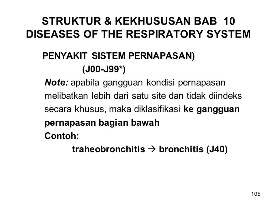 STRUKTUR & KEKHUSUSAN BAB 10 DISEASES OF THE RESPIRATORY SYSTEM
