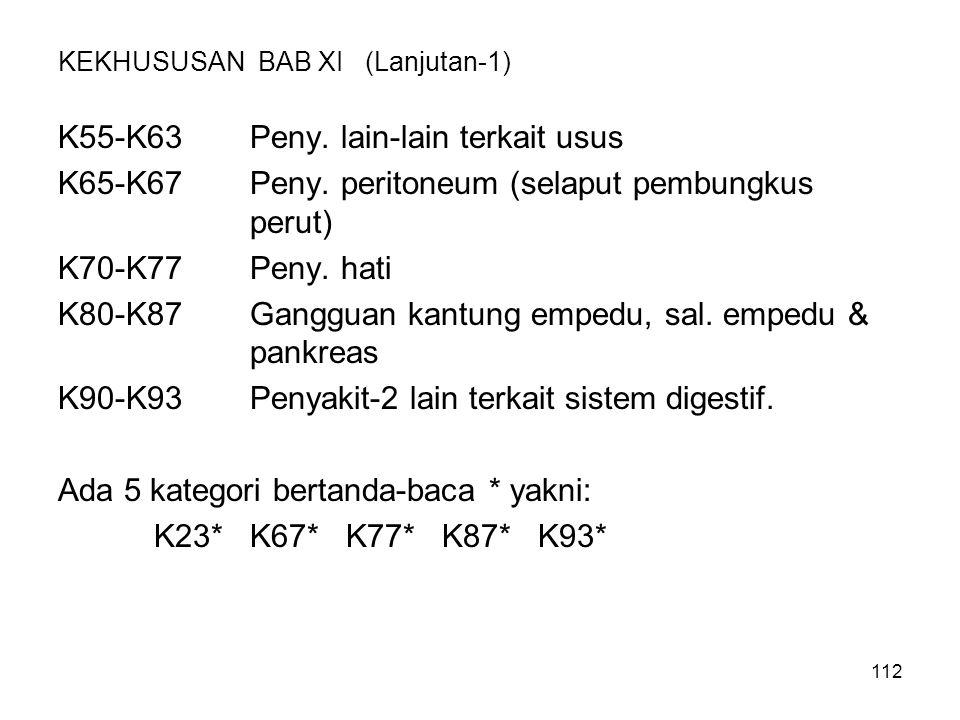 KEKHUSUSAN BAB XI (Lanjutan-1)