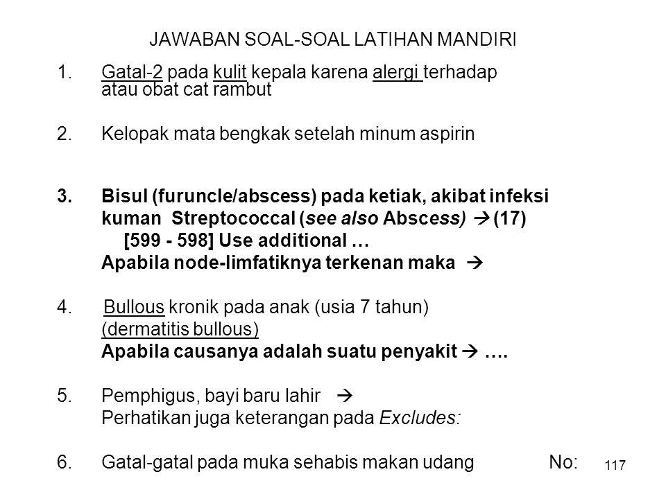 JAWABAN SOAL-SOAL LATIHAN MANDIRI