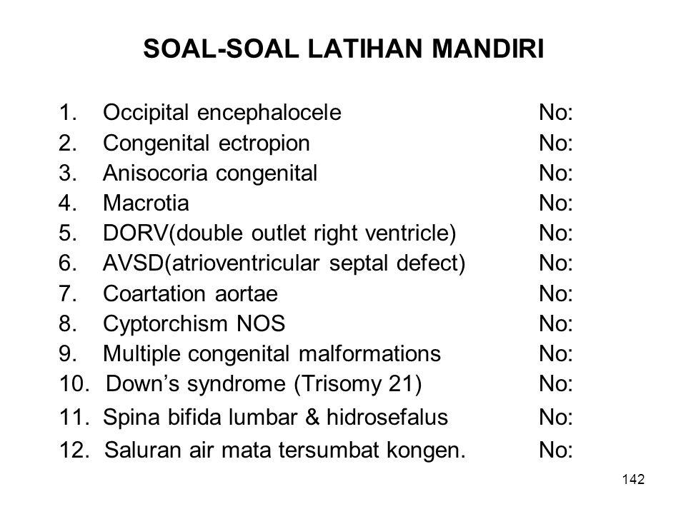 SOAL-SOAL LATIHAN MANDIRI