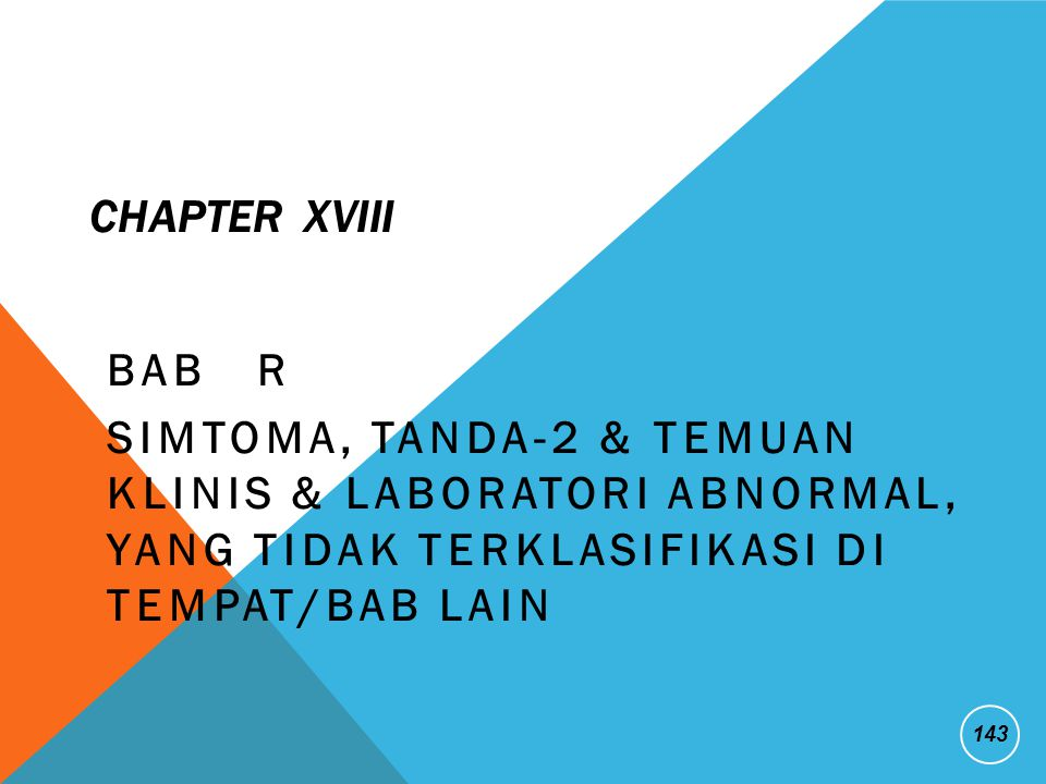 CHAPTER XVIII BAB R.
