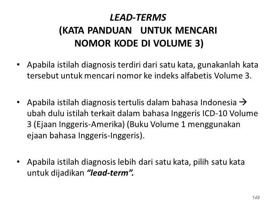 LEAD-TERMS (KATA PANDUAN UNTUK MENCARI NOMOR KODE DI VOLUME 3)