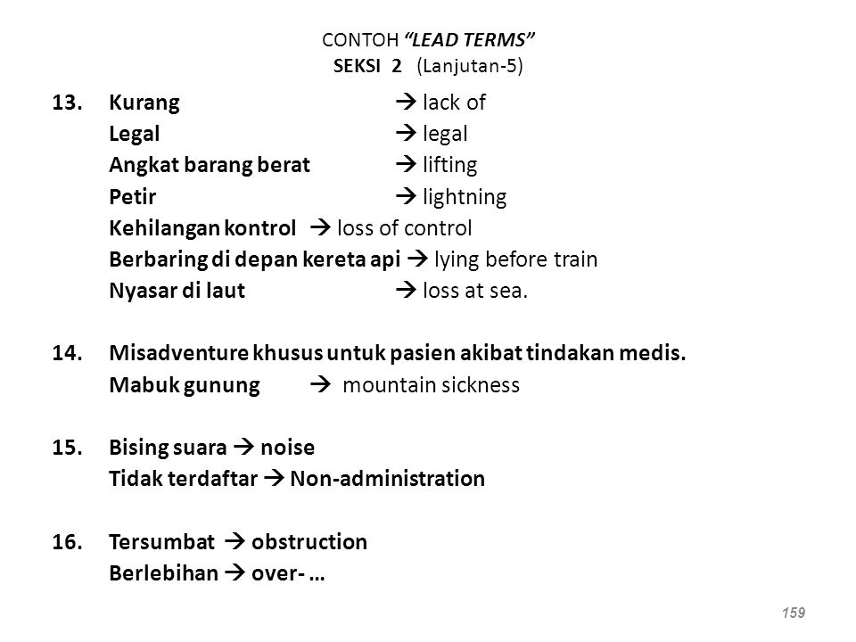 CONTOH LEAD TERMS SEKSI 2 (Lanjutan-5)