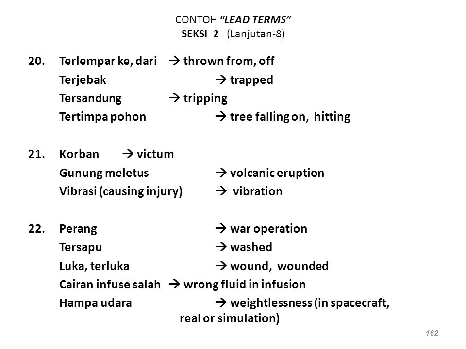 CONTOH LEAD TERMS SEKSI 2 (Lanjutan-8)