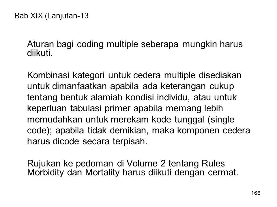 Aturan bagi coding multiple seberapa mungkin harus diikuti.