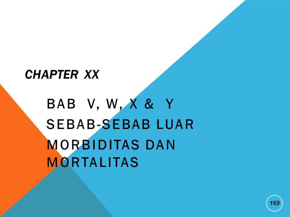 BAB V, W, X & Y Sebab-Sebab Luar Morbiditas dan Mortalitas