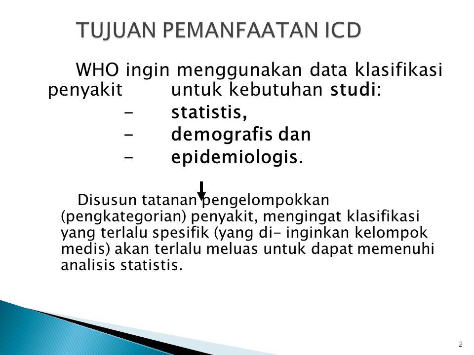TUJUAN PEMANFAATAN ICD