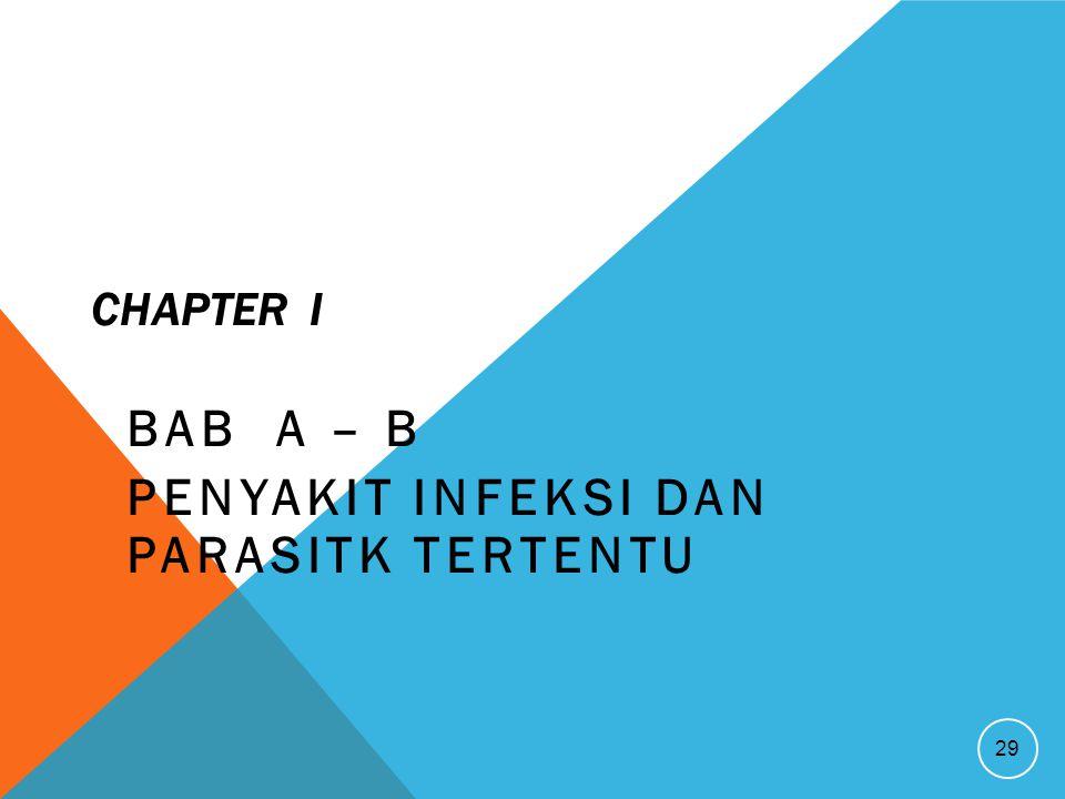 BAB A – B Penyakit infeksi dan Parasitk tertentu