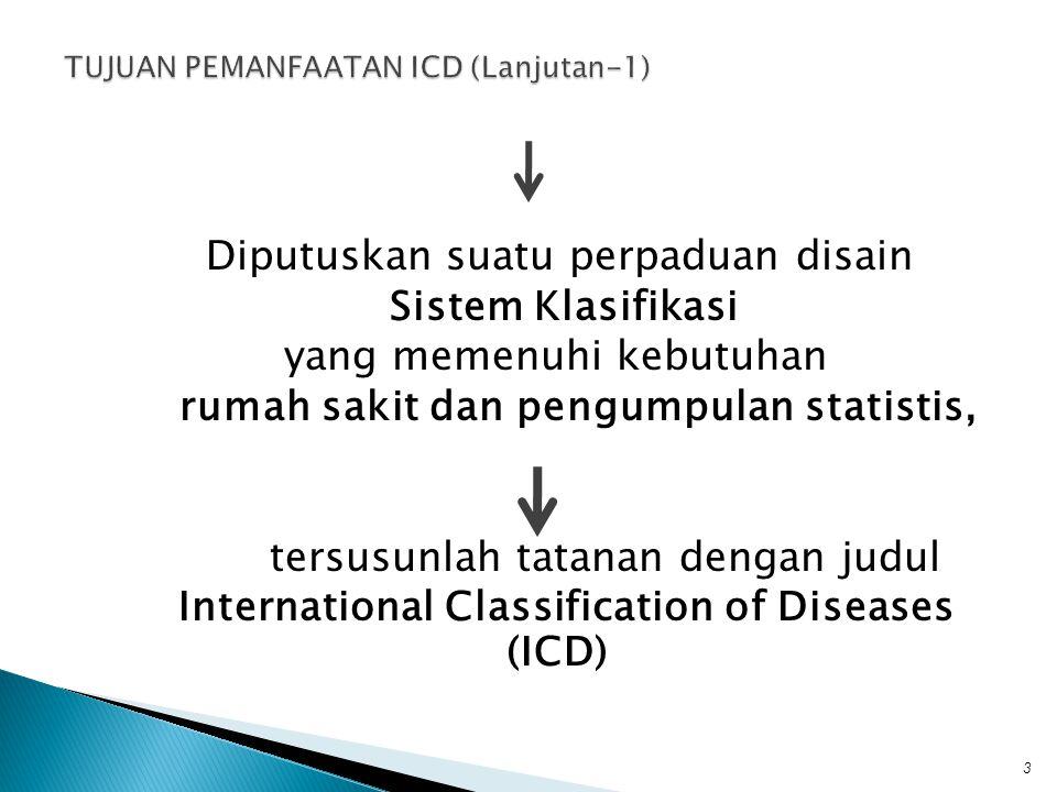 TUJUAN PEMANFAATAN ICD (Lanjutan-1)