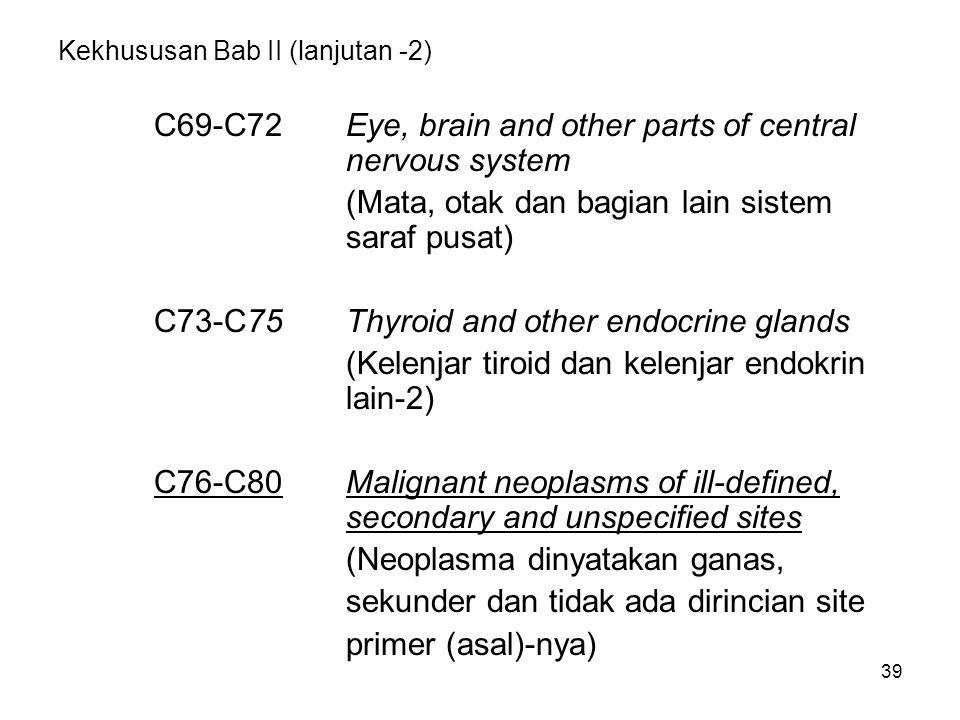 Kekhususan Bab II (lanjutan -2)