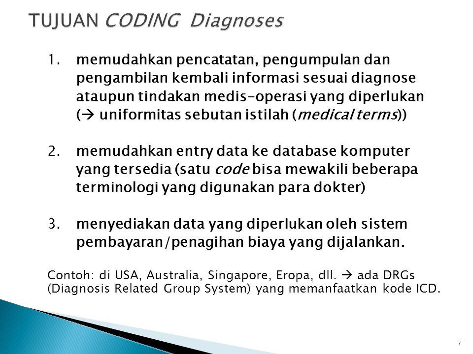TUJUAN CODING Diagnoses