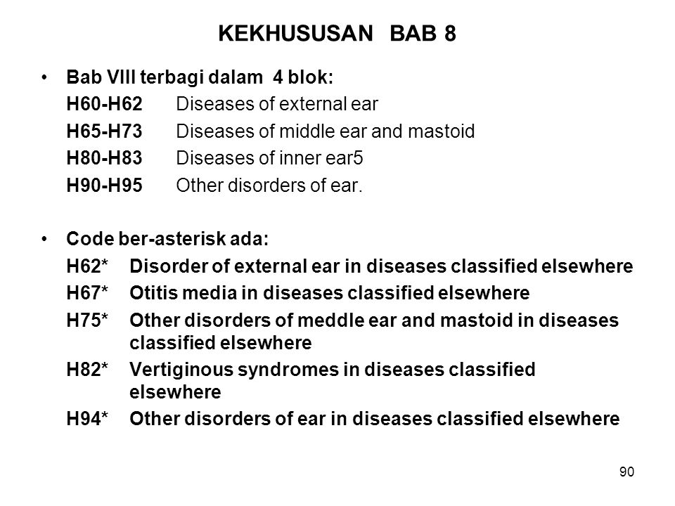KEKHUSUSAN BAB 8 Bab VIII terbagi dalam 4 blok: