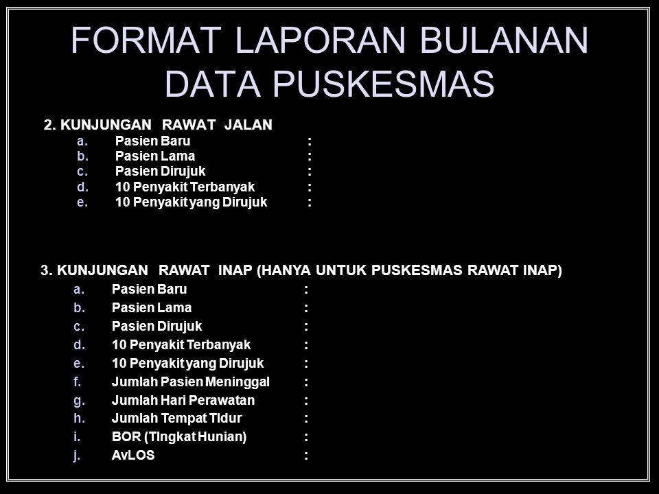 FORMAT LAPORAN BULANAN DATA PUSKESMAS