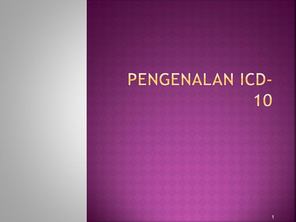 PENGENALAN ICD-10