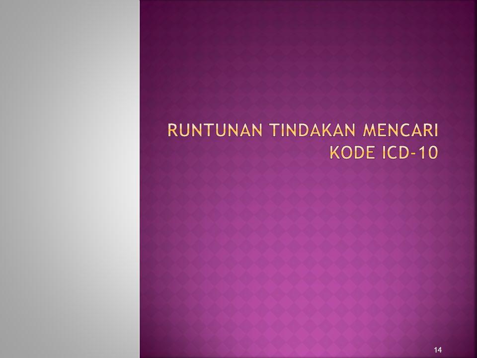 RUNTUNAN TINDAKAN MENCARI KODE ICD-10